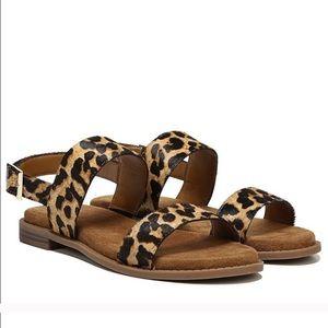 Franco Sarto Leopard Strappy Sandal